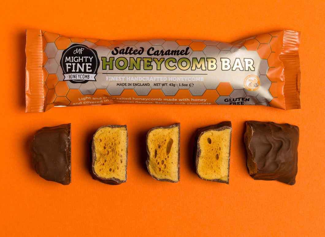 Mighty Fine Honeycomb Salted Caramel Chocolate Bar - Home Pantry