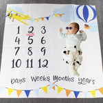 Newborn baby Monthly Growth Milestone Blanket photography props Background Cloth Commemorate Rug