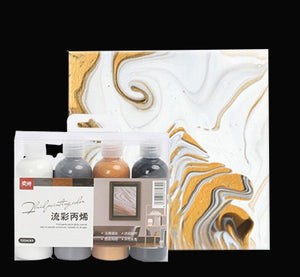 120ML Pigment Acrylic Paint Set Fluid Marbling Paint Acrylic Pouring Medium Silicone Oil Drawing Set For Artist DIY Art Supplies