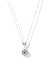 Celestial Ruby Necklace <br>Silver