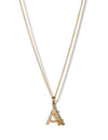 Alphabet Necklace A-Z <br> Gold