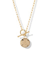 Club Soleil Toggle Necklace <br> Gold