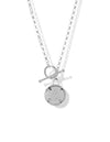 Club Soleil Toggle Necklace <br> Silver