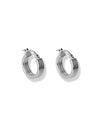 Iris Hoop earrings <br>Silver