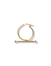 Trapeze large earring <br>Solid gold