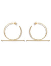 Trapeze XL earrings <br>Gold