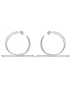 Trapeze XL earrings <br>Silver