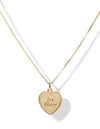 Je t'aime necklace <br>Gold