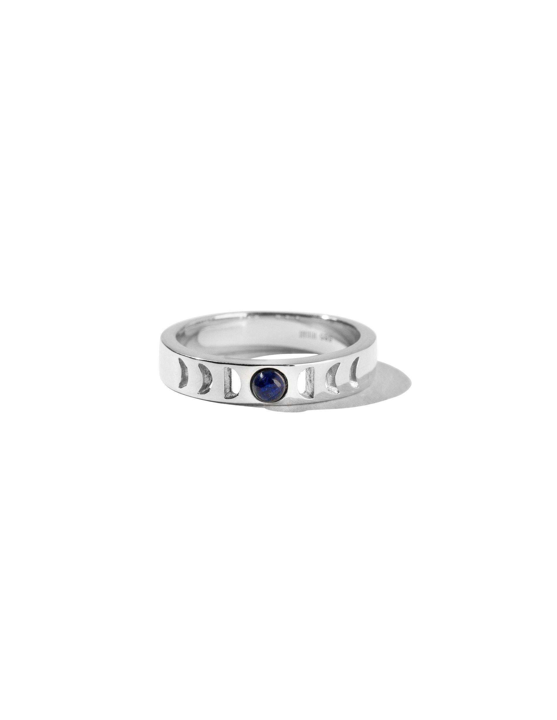 Moonphase ring silver-The World Is Not Enough Collection -Overload Studios