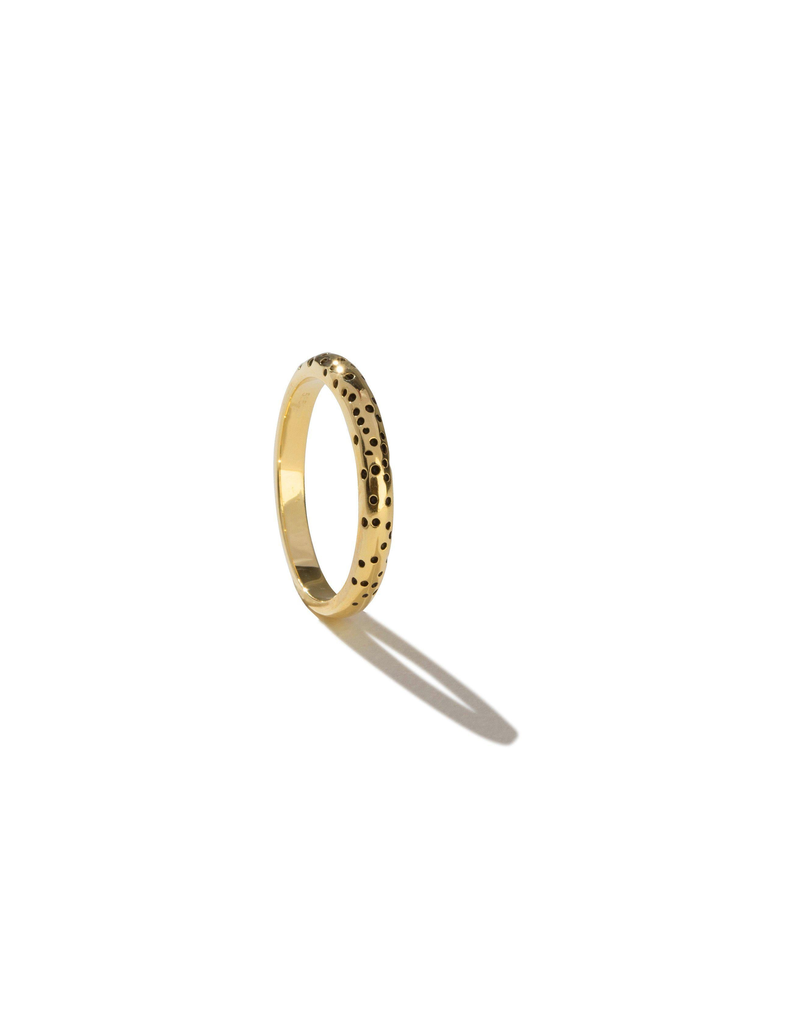 Surface ring, solid 14 karat gold-The World Is Not Enough Collection -Overload Studios