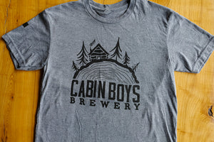 Grey Cabin Boys Logo Tee