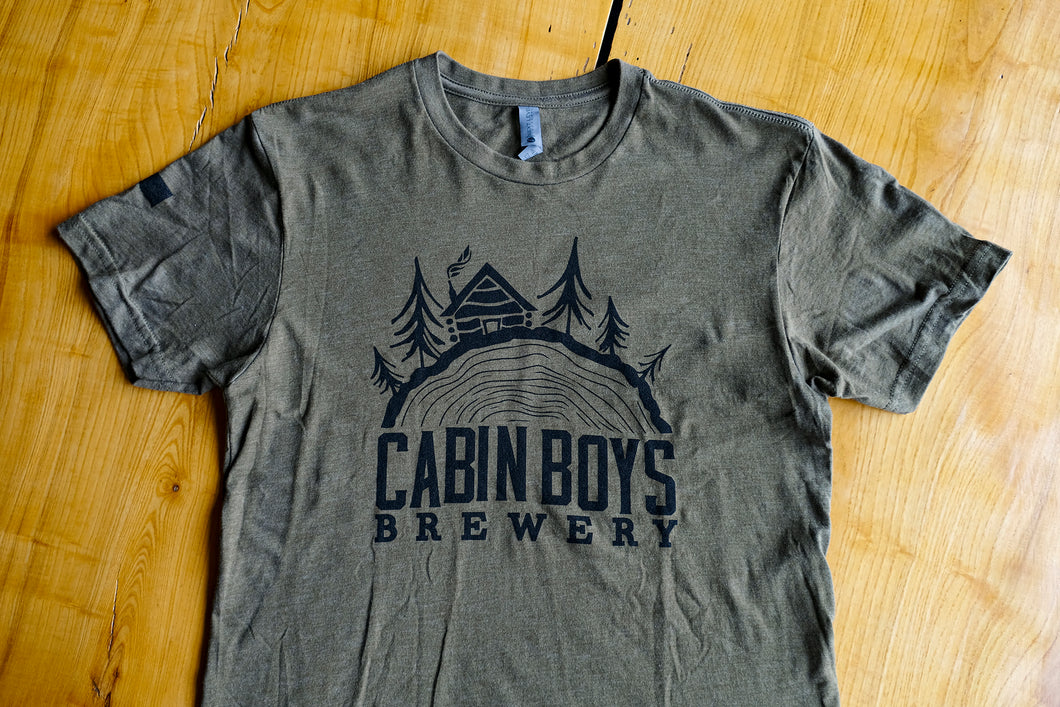 Green Cabin Boys Logo Tee