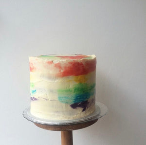 Giant Rainbow Watercolour Cake - 40 servings
