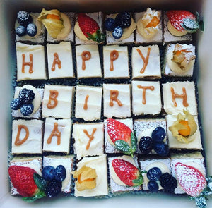 """Happy Birthday"" Treat Box - 20 Cake Cubes"