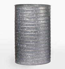 Load image into Gallery viewer, Ribbed Galvanized Planter
