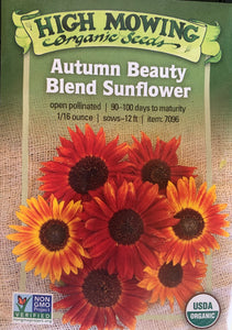 SEEDS: Sunflower Autumn Beauty - Organic