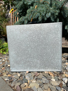 Galvanized Cube Planter 8in