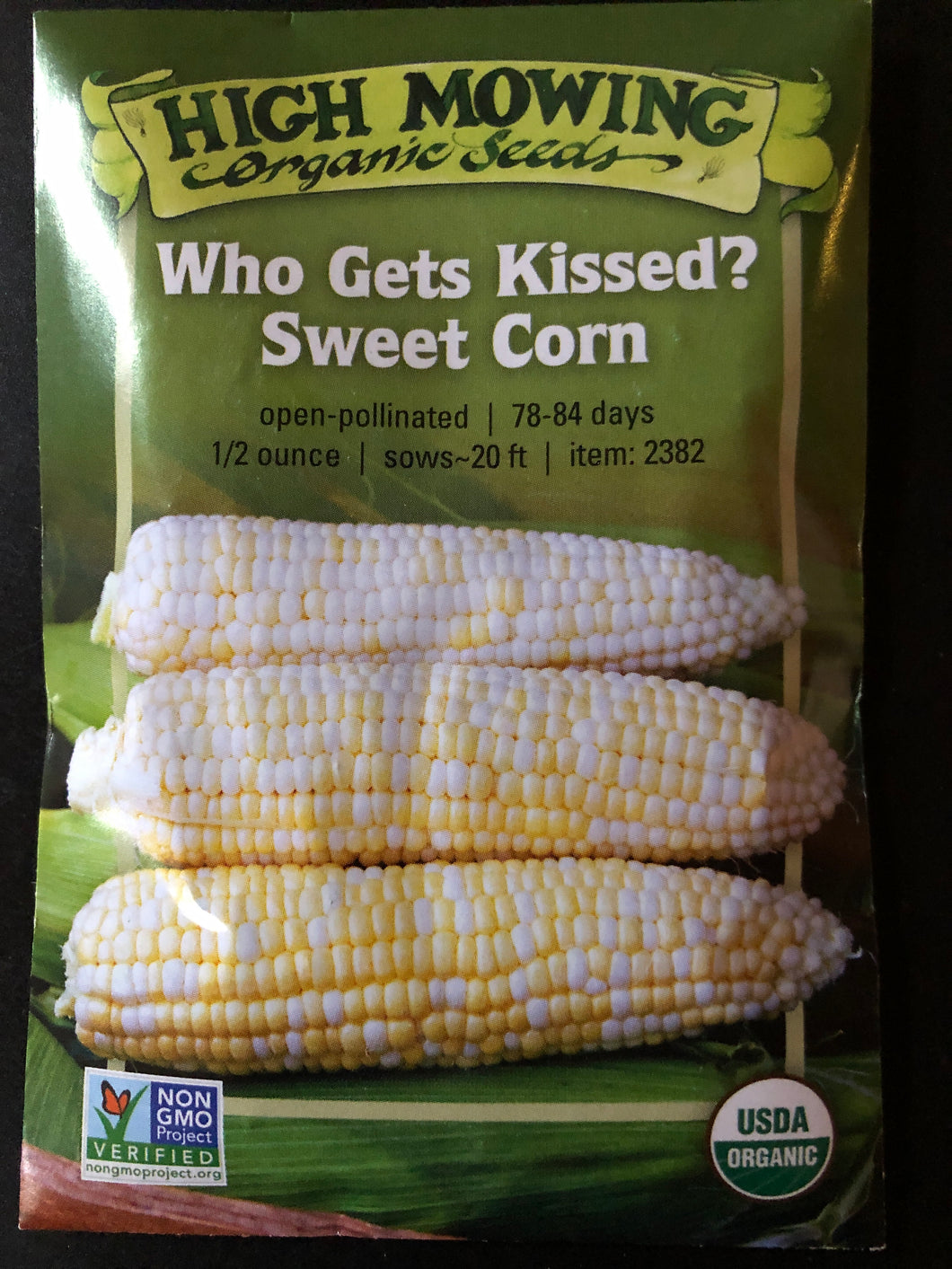 SEEDS: Corn Sweet - Who Gets Kissed - Organic