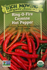 SEEDS: Pepper - Ring-O-Fire Cayenne - Organic