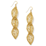 MetaLace Triple Leaf Earrings