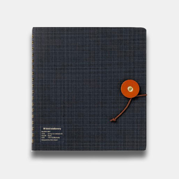Kleid String Tie Notebook, Soft Black