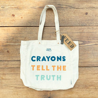 Crayons Tell the Truth Tote Bag