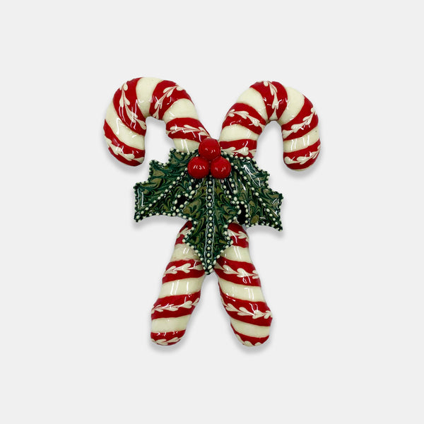 Crossed Candy Cane Ornament