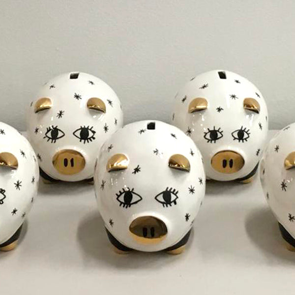 Summer Wheat Piggy Bank