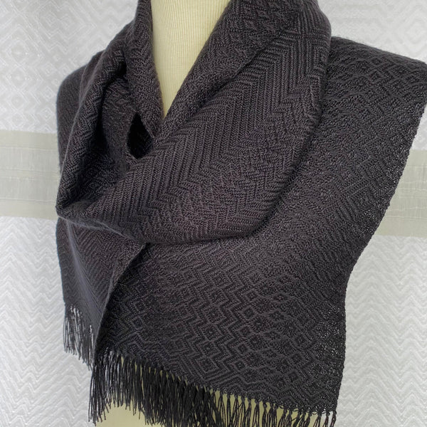 Debbie Barrett-Jones Handwoven Scarf- All Black