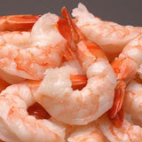 Farmed Cooked Tiger Shrimp peeled & deveined tail-on IQF 13/15 count size (2lb bag, frozen)