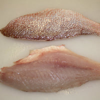 Wild Genuine Gulf Red Snapper Fresh fillets, skin/on, scaled, pin-bone out (2.5lb case, fresh)