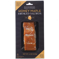 Woodsmoke's Honey Maple Wood Roasted Salmon (4oz pack, frozen)