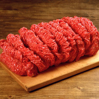 Ground Angus Beef, 80/20 blend (a 2.5lb bag or a full 10lb case, frozen)