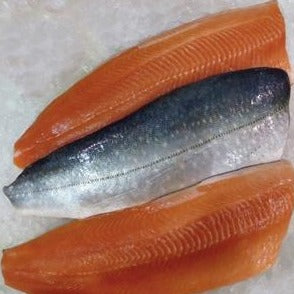 Farmed Arctic Char fillets 10-12 oz, skin/on, scaled, pin-bone removed (2.5lb case, fresh)