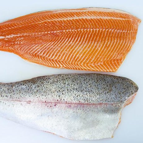 "Norwegian Fjord Salmon Trout ""Steelhead"" Skin On Fillets (2.5lb average case, fresh)"