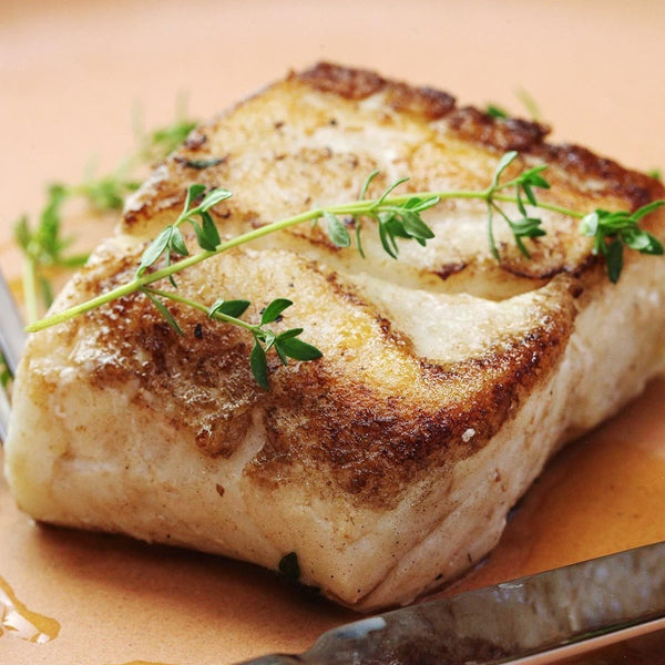 Wild West Coast Halibut Fresh portions, skin/off, boneless (4 fresh portions, 6oz each)