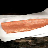 Wild, Kotzebue Sound, Alaskan Salmon Fillet (avg 2lbs per fillet, skin-on, pin-bone out, frozen)
