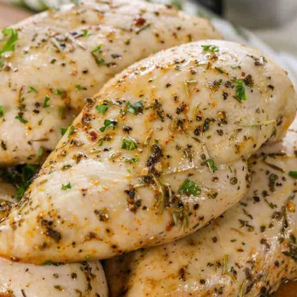 Springer Mountain Farms Chicken Breast in Lemon/Basil Marinade 6-8oz (50 individually vac-sealed pieces per case, frozen)