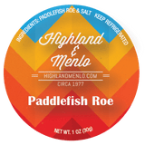 Highland & Menlo Paddlefish Roe (1oz jar)