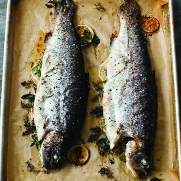 Rainbow Trout Whole Dressed (with bones, fresh)