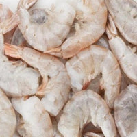 Wild East Coast Raw White Shrimp IQF 16/20 count, shell-on, head-off (2lb bag, frozen)