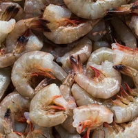 Wild Gulf of Mexico Raw White Shrimp 21/25 count, shell-on, head-off (5lb block, frozen)