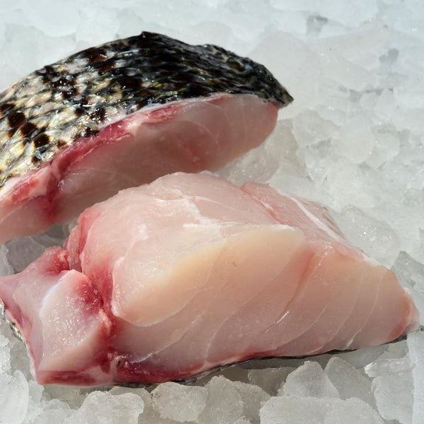 Wild Striped Bass (4, 6oz fresh portions, skin/on, scales removed)