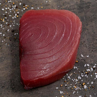 Wild Yellowfin Tuna Steaks (5 fresh pieces, 6oz each), skin/off, boneless, center cut