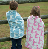In 2 Green Eco Baby Pony Throw