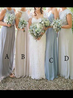 Floor Length Chiffon Bridesmaid Dresses MBP018