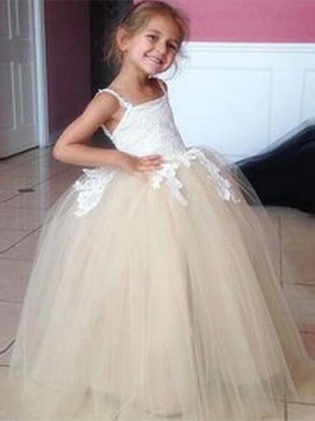 Tulle and Lace Flower Girl Dresses MG001