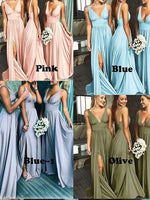 Floor Length Bridesmaid Dresses with Slit MBP027
