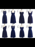 Short Chiffon Bridesmaid Dresses MBP002