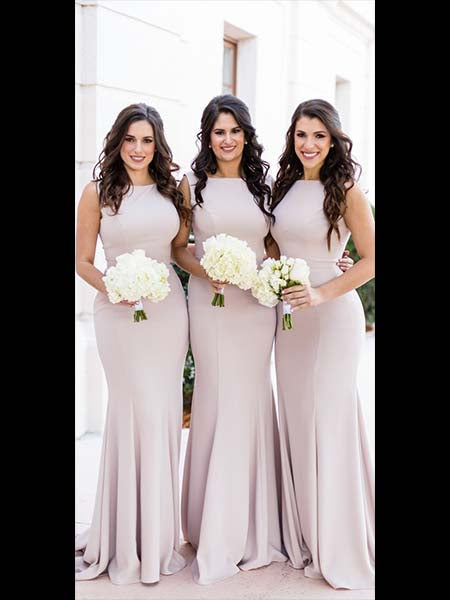 Floor Length Bridesmaid Dresses MBP030
